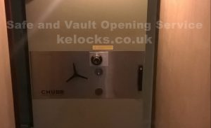 Chubb safe opened by Key Elements