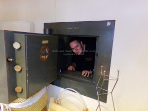 Jason Jones inside opened chatwood milner vault