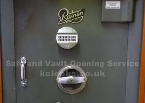Ratner safe opened in London and electronic combination lock installed