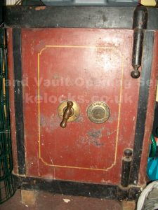 Hobbs safe with lost keys, picked by Jason Jones of Key Elements