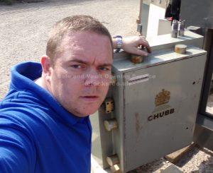 Jason Jones of Key Elements servicing a chubb vault