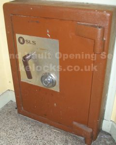 SLS safe opening and new combination fitted