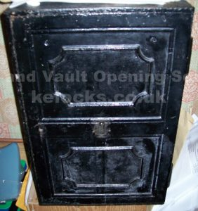 Antique Iron Safe opened by Jason Jones of Key Elements