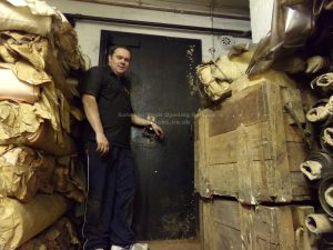 Chatwood Strongroom door opened by Jason Jones, Key Elements in London