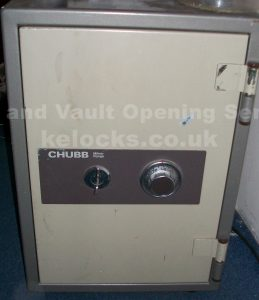Chubb Milners Range safe opened by Jason Jones of Key Elements