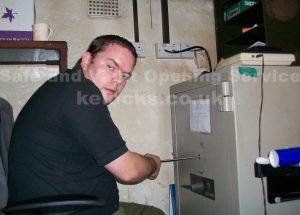 Jason Jones cracking a Chubb Lichfield safe