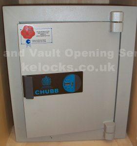 Chubb Heritage safe opened by Jason Jones of Key Elements