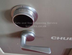 Chubb Commerce safe opened by Jason Jones of Key Elements