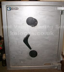 Chubb safe with lost keys opened by Jason Jones of Key Elements