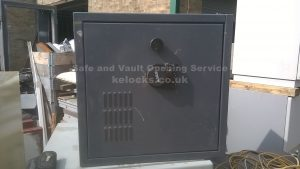 Ex Ministry safe with failed electronic lock opened by Jason Jones of Key Elements