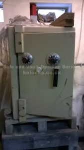 Ex Ministry Dual locking safe serviced by Jason Jones of Key Elements