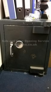 Ex Ministry safe with broken key