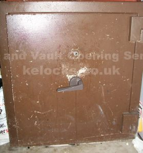 Chubb safe with failed lock opened and repaired by Jason Jones of Key Elements