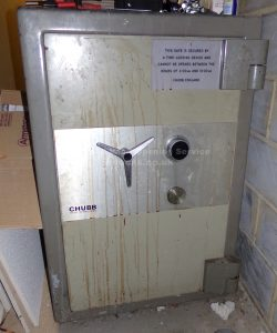 Chubb safe opened and rekeyed by Jason Jones of Key Elements