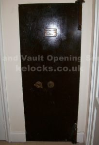Hobbs Hart and co strongroom door