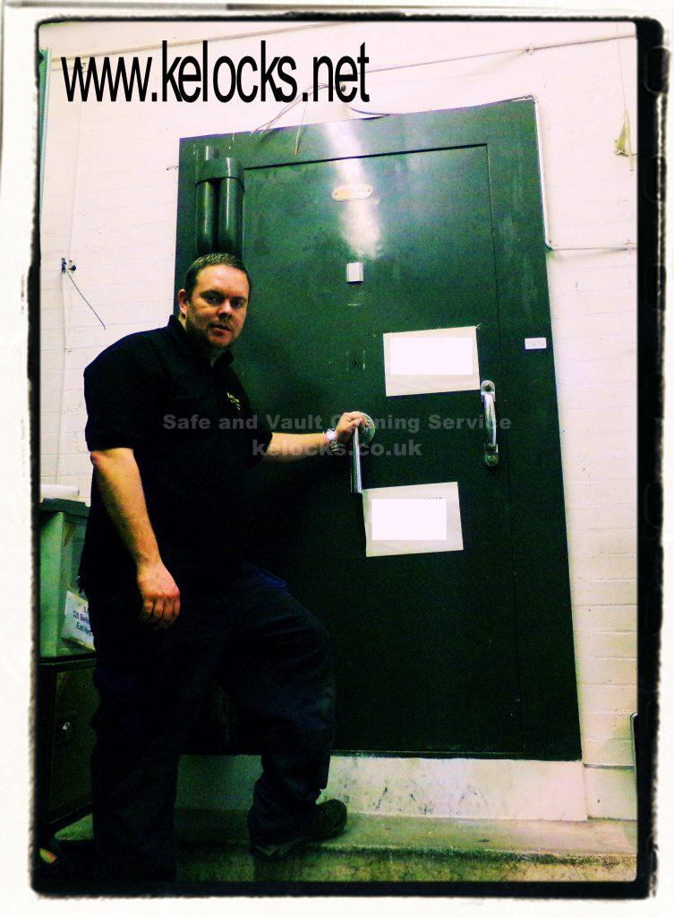 Lost keys vault opening in London by Jason Jones of Key Elements