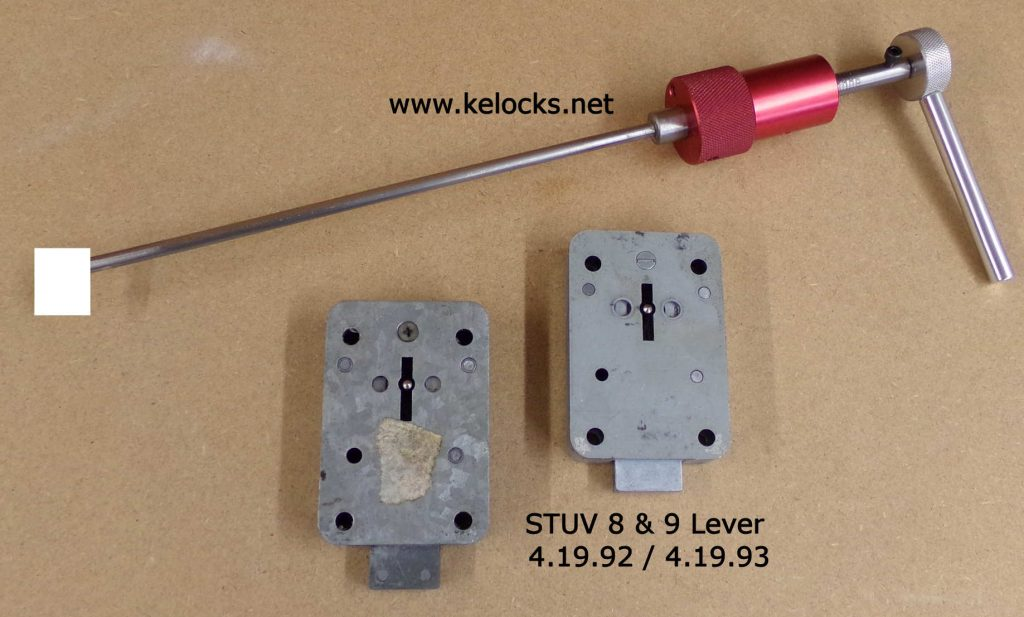 STUV 4.19.92 - 8 Lever and STUV 4.19.93 - 9 lever Safe Lock Picks