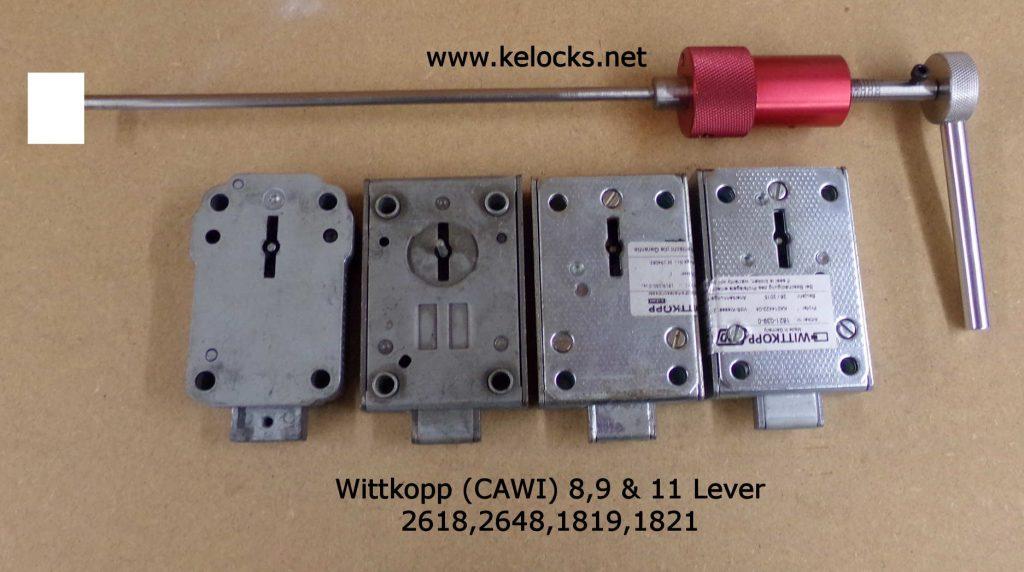 Wittkopp CAWI 8, 9 & 11 Lever Safe lock Picks - 2618, 2648, 1819, 1821