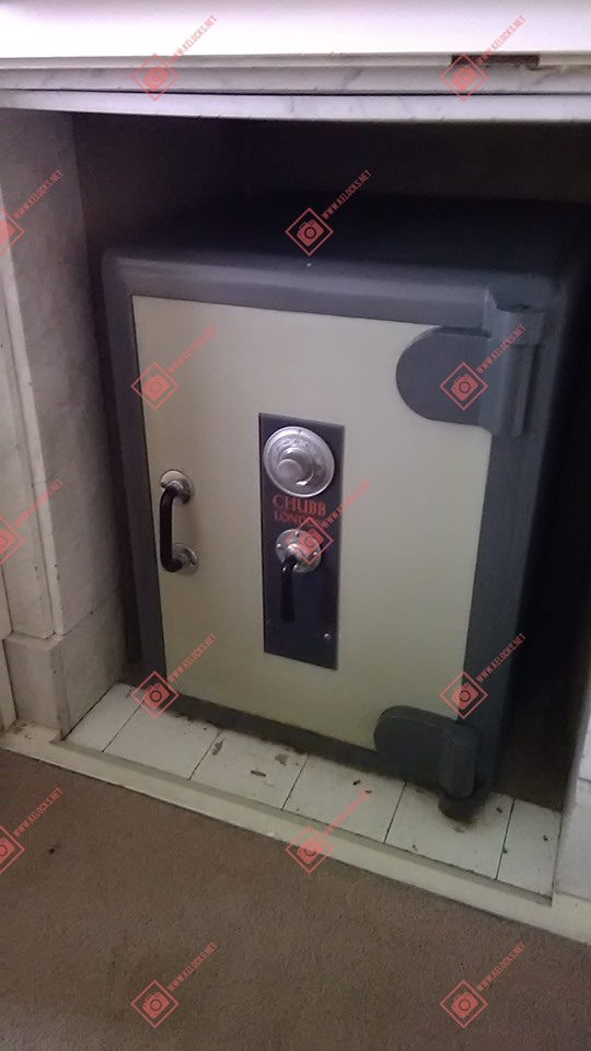Chubb safe with lost combination opened